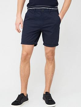 River Island River Island Sid Skinny Shorts - Navy Picture