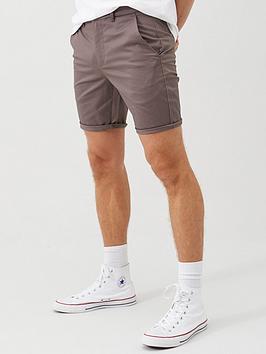 River Island River Island Vienna Skinny Fit Chino Shorts - Purple Picture