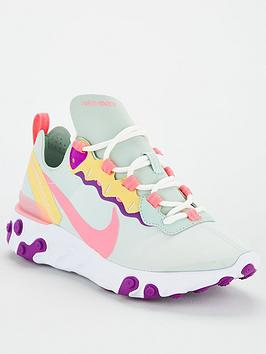 Nike Nike React Element 55 - Green/Pink Picture