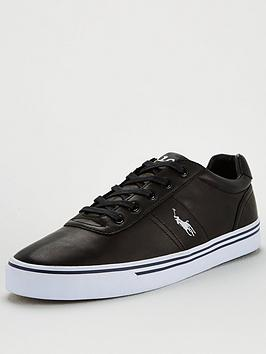 Polo Ralph Lauren Polo Ralph Lauren Hanford Leather Trainers - Black Picture