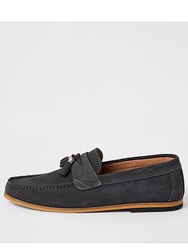 River Island River Island Suede Tassel Loafers - Grey Picture