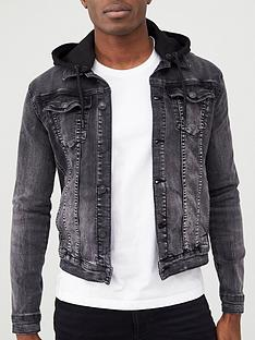 river-island-muscle-fit-hooded-denim-jacket-black