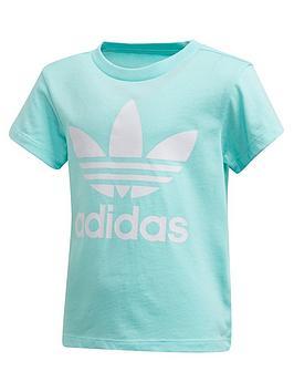 adidas Originals Adidas Originals Childrens Trefoil Tee - Light Blue Picture