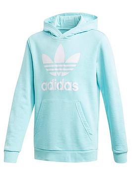 adidas Originals Adidas Originals Childrens Trefoil Hoodie - Light Blue Picture