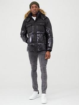 river-island-high-shine-hooded-padded-jacket-black