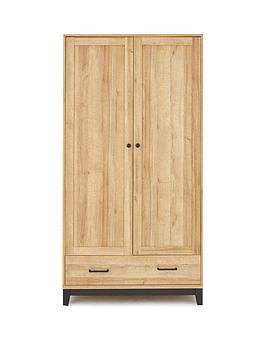 Product photograph showing Dalston 2 Door 1 Drawer Wardrobe