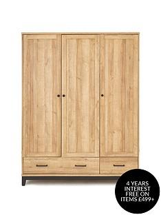 dalston-3-door-2-drawer-wardrobe-with-inside-mirror