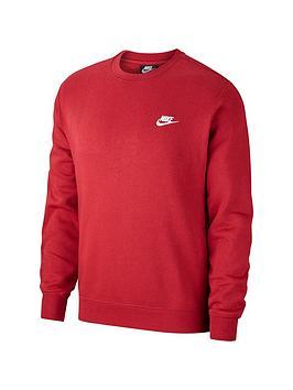 Nike Sportswear Club Crew Neck Sweat - Red