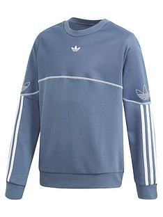 adidas-originals-childrensnbspoutline-crew-blue