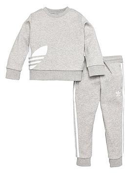 adidas Originals Adidas Originals Youth Bg Trefoil Crew And Jogger - Grey Picture