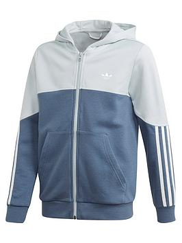 adidas Originals Adidas Originals Childrens Outline Full Zip Hoodie - Blue Picture