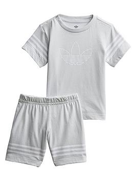 adidas Originals Adidas Originals Infant Outline Shorts Set - Grey Picture