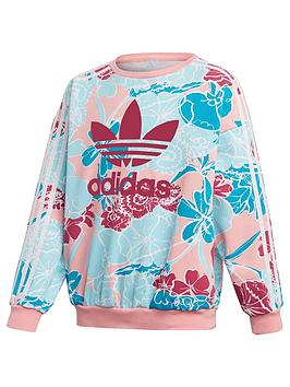 adidas Originals Adidas Originals Girls Crewneck Sweatshirt - Multi Picture
