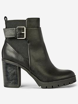 Dorothy Perkins Dorothy Perkins Ally Block Heel Boots - Black Picture