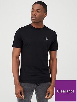 river-island-r96-short-sleeve-slim-fit-t-shirt-black