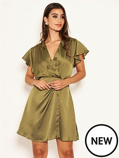 ax-paris-printed-polka-dot-satin-dress-olive