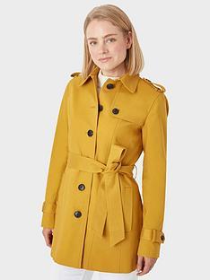 hobbs-wool-saskia-trench-coat-gold