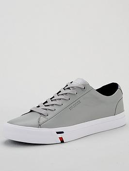 Tommy Hilfiger Tommy Hilfiger Corporate Leather Sneakers - Silver Picture