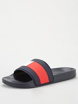 tommy-hilfiger-flag-pool-slides-navy