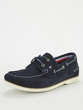 Tommy Hilfiger Tommy Hilfiger Classic Suede Boat Shoe - Navy Picture