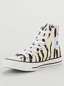 Converse Converse Chuck Taylor All Star Canvas Printed Hi Top - Animal  ... Picture