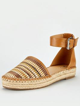 V by Very V By Very Maegan 2 Part Ankle Strap Flat Espadrilles - Tan Picture