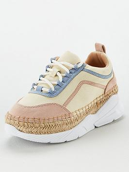V by Very V By Very Addison Chunky Espadrille Trainer - Natural Picture