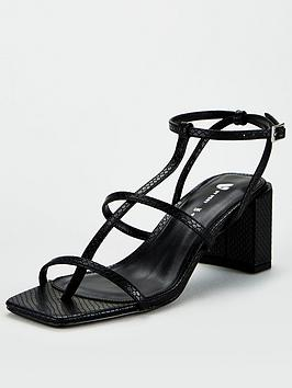 V by Very V By Very Bellamy Square Toe Strappy Sandals - Black Picture
