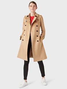 hobbs-wool-saskia-trench-coat-camel