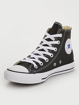 Converse Converse Chuck Taylor All Star Leather Hi Top - Black Picture