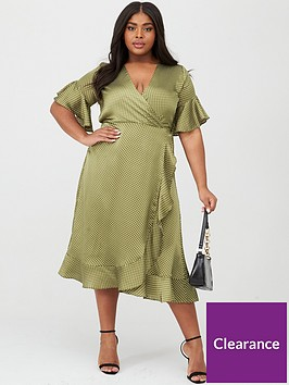 ax-paris-curve-spotted-frill-dress