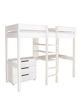 Stompa Stompa High Sleeper With Desk, Drawers And Mattress Options (Buy  ... Picture