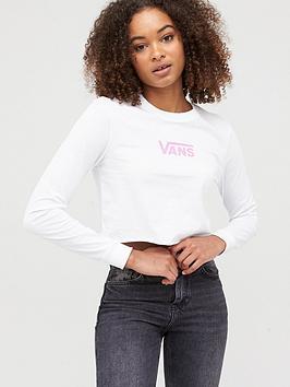 Vans Vans Airborne V Long Sleeve Crop T-Shirt - White Picture