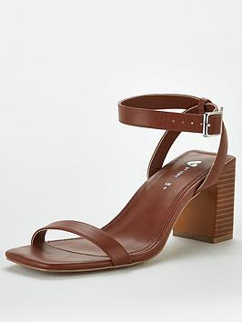 V by Very V By Very Bliss Square Toe Block Heel Sandals - Rust Picture