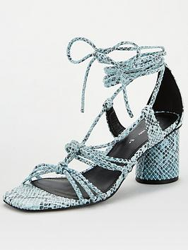 V by Very V By Very Brandi Rope Tie Sandal - Blue Picture
