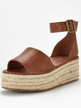 V by Very V By Very Danna Two Part Ankle Strap Wedge Sandals - Tan Picture