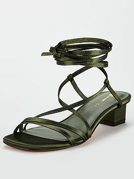 V by Very V By Very Belissa Low Block Square Strappy Sandals - Khaki Picture