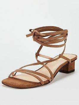 V by Very V By Very Belissa Low Block Square Strappy Sandals - Tan Picture