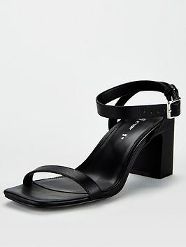 V by Very V By Very Bliss Square Toe Block Heel Sandals - Black Picture