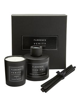 Very Florence Verity Diffuser & Mini Candle Gift Set - Amber & Sandalwood Picture