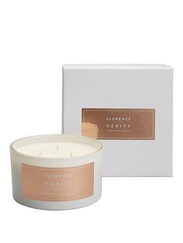 Very Florence Verity 3 Wick Large Candle - Coconut & Hibiscus Picture