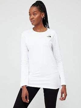 The North Face The North Face Long Sleeve Simple Dome T-Shirt  - White Picture
