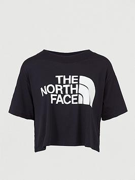 The North Face The North Face Short Sleeve Half Dome Cropped Tee - Black Picture