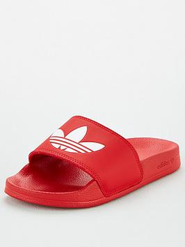 adidas Originals Adidas Originals Adilette Lite Junior Sliders - Scarlet Picture