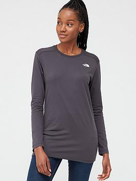 The North Face The North Face Long Sleeve Simple Dome T-Shirt - Grey Picture