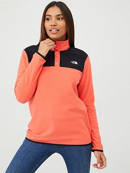 The North Face The North Face Tka Glacier Snap-Neck Pullover - Red/Black Picture