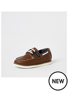 river-island-mini-mini-boys-boatshoe-tan