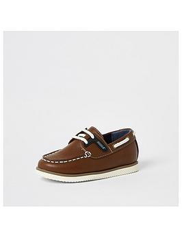 River Island Mini River Island Mini Mini Boys Boatshoe - Tan Picture