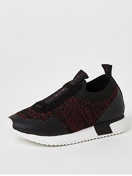 River Island Mini River Island Mini Boys Knitted Runner-Dark Red Picture
