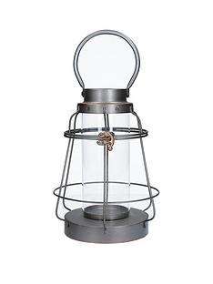 gisela-graham-brushed-metal-bell-lantern
